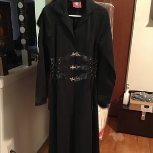 RedBalls on Fire Corset trench coat